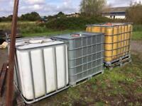 Liquid storage tanks 1000litres