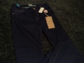 BRAND NEW With Tags dark blue RIVER ISLAND Sexy Bootleg Jeans - Size 14 R