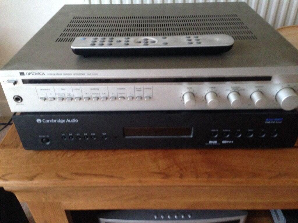 Cambridge Audio Digital Tuner Sharpe Optonica Amplifier 1 Jpw 70w Fm Speaker