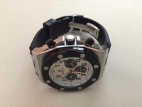 New Audemars Piguet AP offshore Automatic Watch, Silver Case