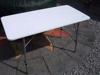 Vango folding 'birch' table camping table - white