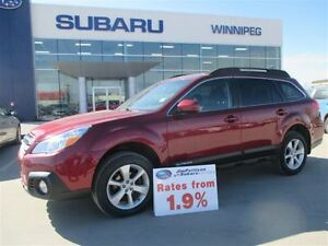 2013 Subaru Outback 2.5i TRNG PKG - 1.9% FINANCING AVAILABLE!