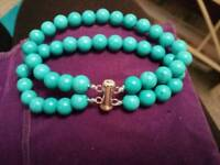 *reduced* Turquoise bracelet with silver clasp