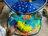 Disney Baby Finding Nemo Mr Ray Ocean Lights Activity Gym/Play Mat