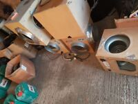 Hydroponics grow equipment job lot, box fans, shades, filters, bulbs, fans etc..