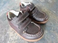 Clarks Dark Brown Leather Boot Shoes, Size 5F