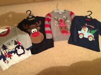 Baby boys Christmas Jumpers 18-24 months