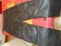 Ladies size 12 S JTS Biker Leather Trousers
