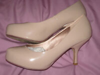 WOMENS PATENT SHOES (Colour: Nude) for sale. Worn once. Nottinghamshire.
