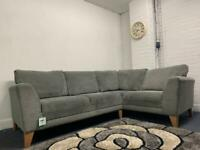 Pending Beautiful grey NEXT suede corner sofa delivery 🚚 sofa suite couch furniture