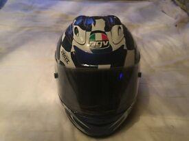AGV V Flyer Crash Helmet for sale. Size 55cm