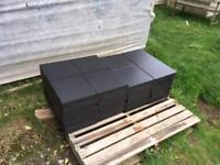 Cembrit Jutland fibre cement slates, 300 x black 600mm x 300mm