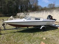 Fletcher 16' boat, engine and trailer