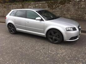 Audi A3 Sline Diesel, Only 70K, 2008. Full Years Mot, Fsh, Full Leather. Bmw Volkswagen Seat