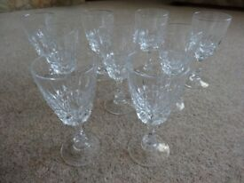 WINE GLASSES X 9
