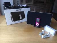 Speaker docks with 4th generation iPod nano (8gb)