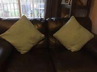 4 Teal cushions