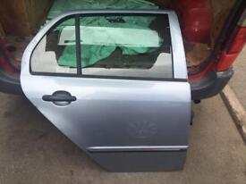 Skoda fabia grey blue driver rear door o/S 2003