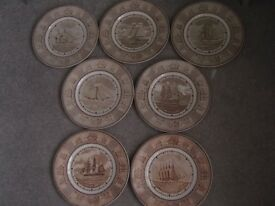 7 x Wedgwood plates - The American Sailing Ship Plates
