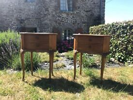 French Antique Bedside Tables