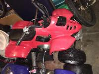 Red 110cc blue 50cc