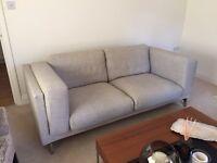 IKEA Nockeby Sofa and Footstool