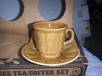 "Tams ""Harvest Maize"" 12 piece tea/coffee set BOXED"