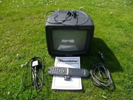 ROADSTAR 10ins PORTABLE COLOUR TV.