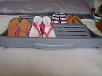 Under bed shoe storage draws x 4 on wheels