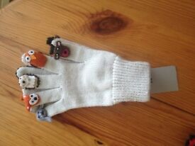 NEW Novelty One-Size Gloves, still with tags from Sainsburys, £2 each pair.
