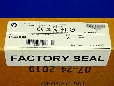 2019 Factory Sealed Allen Bradley 1756-of8k A 1756-of8 Analog Output Module