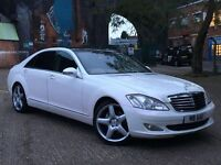 2009 WHITE MERCEDES BENZ S CLASS! FULL SERVICE HISTORY. CREAM LEATHERS!!