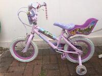 "Girl's Disney bike 14"" excellent condition"