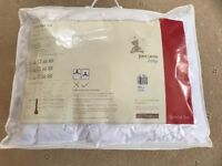 Cot bed set, John Lewis, duvet, pillow, mattress protector