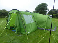 HIGH GEAR ZENOBIA ELITE 6 TENT with foot print, porch and carpet. Emerald green and grey.