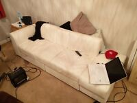 Stylish Modern White Leather Sofa MUS T GO ASAP