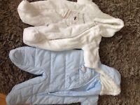 Baby Boys Snowsuits - Age 0-3 Months X 2