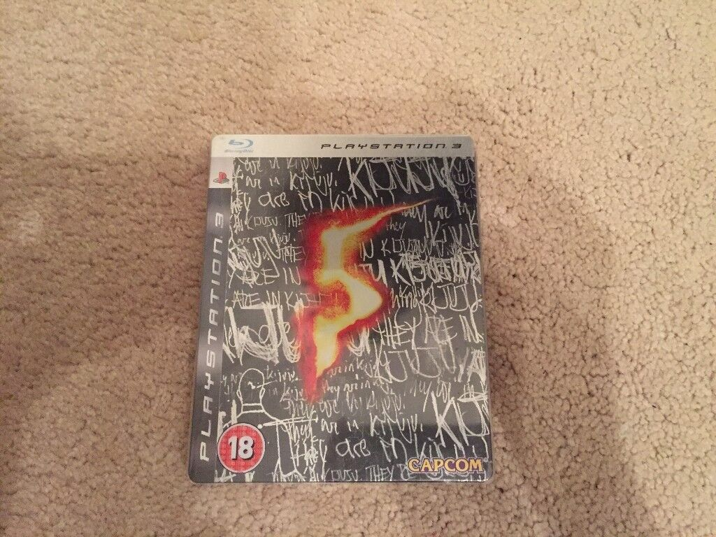 PS3 Resident Evil 5 Limited Edition Steel Book Case