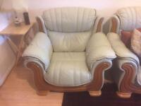 4 piece leather sofa and matching coffee table!!