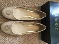 Ralph Lauren ladies shoes. Ecru. Pump style. UK 6. USA 9.5.