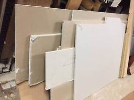 Various sizes plaster board cut offs