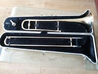 Blessing trombone B 128 with mouth peice great condition with original case