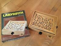 Labyrinth wooden maze game