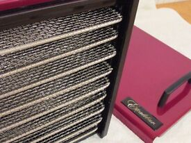 Excalibur stainless steel 9 tray dehydrator with timer and metal trays