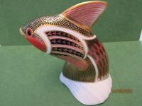 Retired Royal Crown Derby Tropical Fish Paperweight