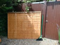 Garden Fence Panels, 1.5m high x 1.8m wide, as new