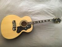 Epiphone EJ-200 acoustic guitar with gig bag