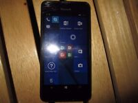 MICROSOFT LUMIA 550,4G,8GB,UNLOCK ANY NETWORK,SCREEN CRACK BUT NOT AFFECT TO USE SCREEN AND TOUCH