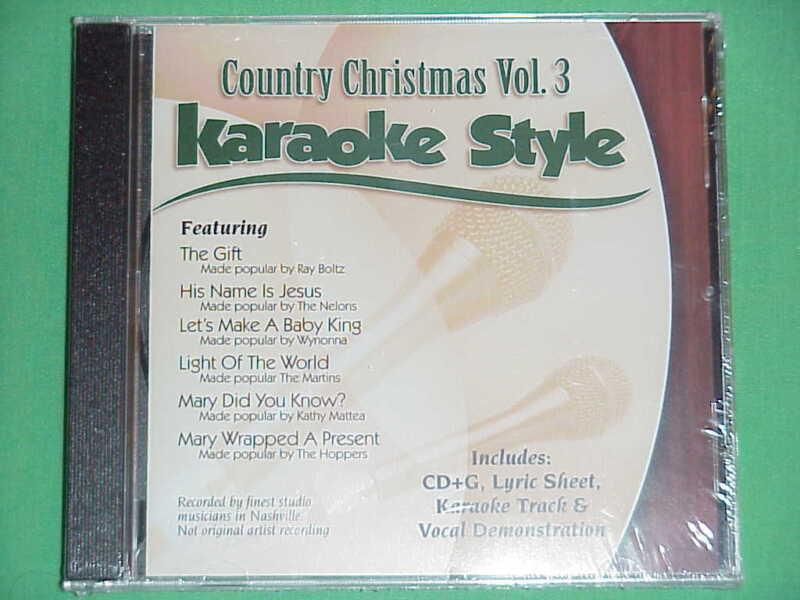 Country Christmas  Volume #3  Christian  Daywind  Karaoke Style  CD+G  Karaoke