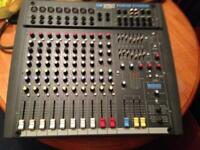 Soundcraft power station 600 watts pa mixer with lexicon fx